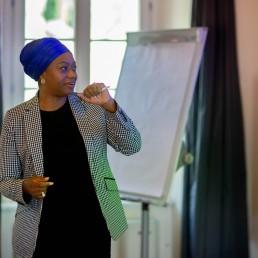 Women leaders with Aishah Ahmad